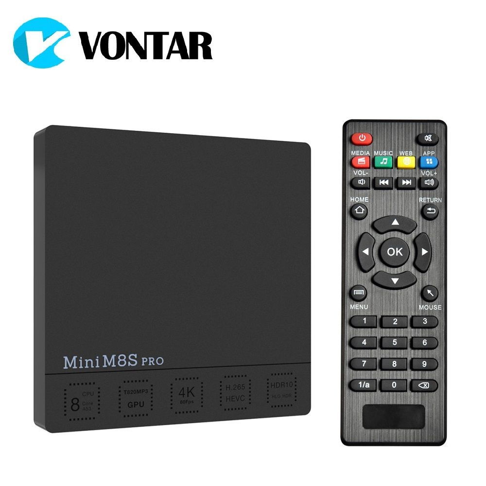 VONTAR Mini M8S PRO C DDR3 2GB 16GB Smart Android 7.1 TV Box Amlogic S912 <font><b>Octa</b></font> Core 2.4/5G Wifi H.265 Set-Top Box 3GB 32GB DDR4