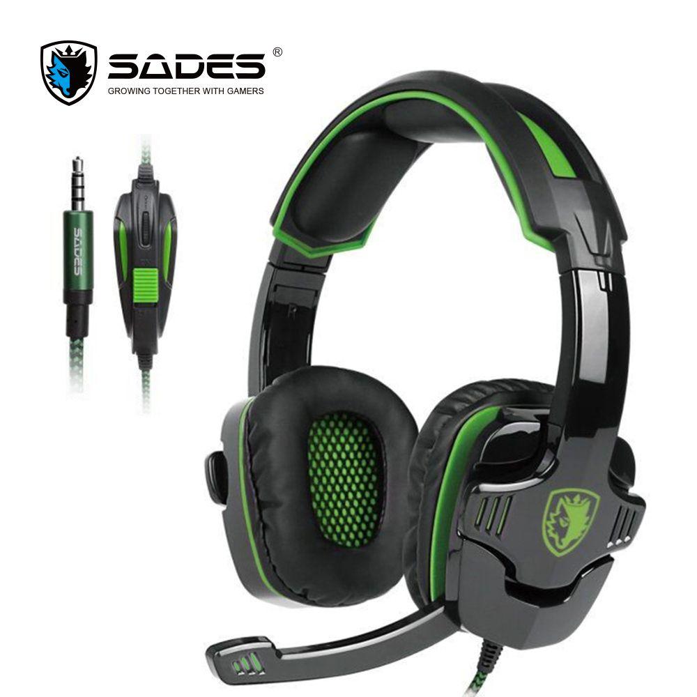 SADES SA930 3.5mm Gaming Headset Ordinateur Casque avec Micro Antibruit pour Mac/Xbox One/Téléphone portable/PS4/Tablet