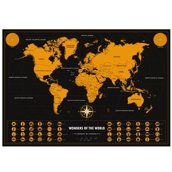 World Scratch Off Map | PERFECT GIFT for any travel Personalized Gift 16.7