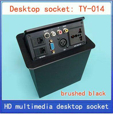 Desktop-buchse/versteckte multimedia informationen steckdose/netzwerk RJ45/video Audio/XLR/Vga-schnittstelle desktop buchse TY-014