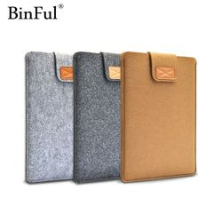 BinFul 9.7 11,12,13,15,17 inch Wool Felt Inner PC Notebook Laptop Sleeve Bag Case Carrying Handle Bag For Macbook Air/Pro/Retina