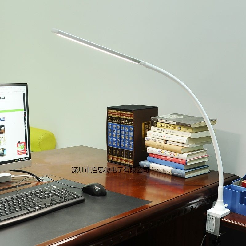 Modern LED Clip Light Type Desk Clamp Lamp Dimming Reading eye Lamps Table Lights Dimmable 5 Color temperature
