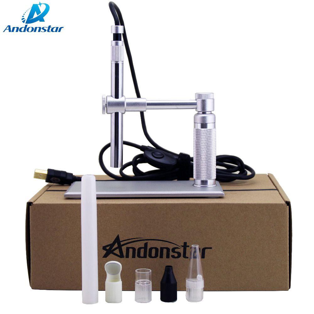 2MP USB Microscope 500x8 LED usb Microscope Numérique Andonstar Vidéo Caméra Stand Microscopie électronique usb loupe WIFI Module