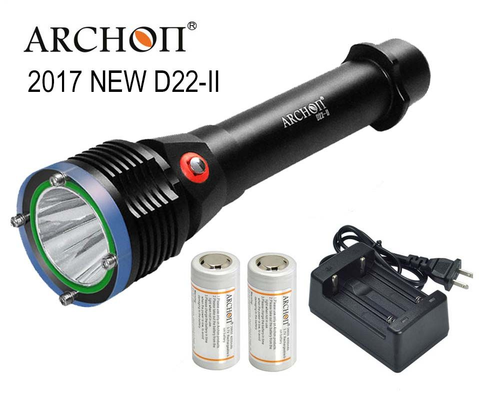 ARCHON D22-II Diving Flashlight D22 II CREE L2 U2 LED 1200 Lumens 100M underwater D22 /W28 upgraded version 100% Original Lanten