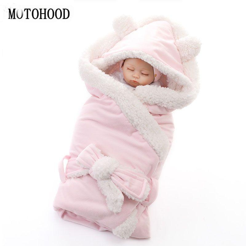MOTOHOOD hiver bébé garçons filles couverture d'emballement Double couche polaire bébé Swaddle sac de couchage pour les nouveau-nés bébé literie couverture
