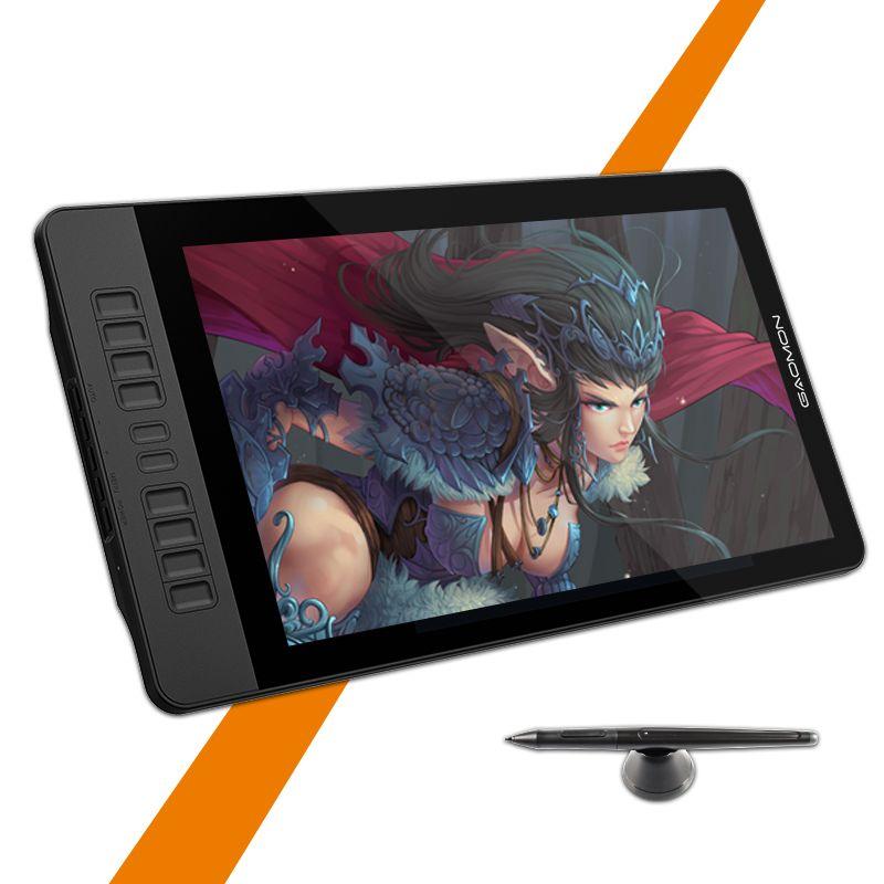GAOMON PD1560 15.6 pouces IPS HD Art Graphique tablette Moniteur 8192 Leverls Sensibilité À La Pression Pen Display & Dessin tablet Gant
