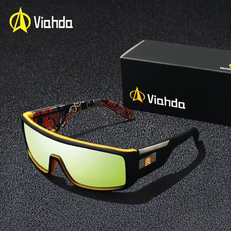 2018 Viahda Mode Marque designer Hommes Miroir lunettes de Soleil pour Femmes et Hommes Conduite Sportive Revêtement UV400 Lunettes Soleil Lunettes