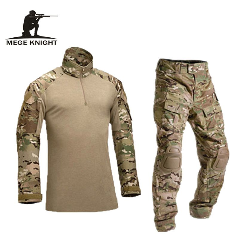Tactique militaire uniforme vêtements armée de la militaire uniforme de combat tactique pantalon avec genouillères camouflage vêtements