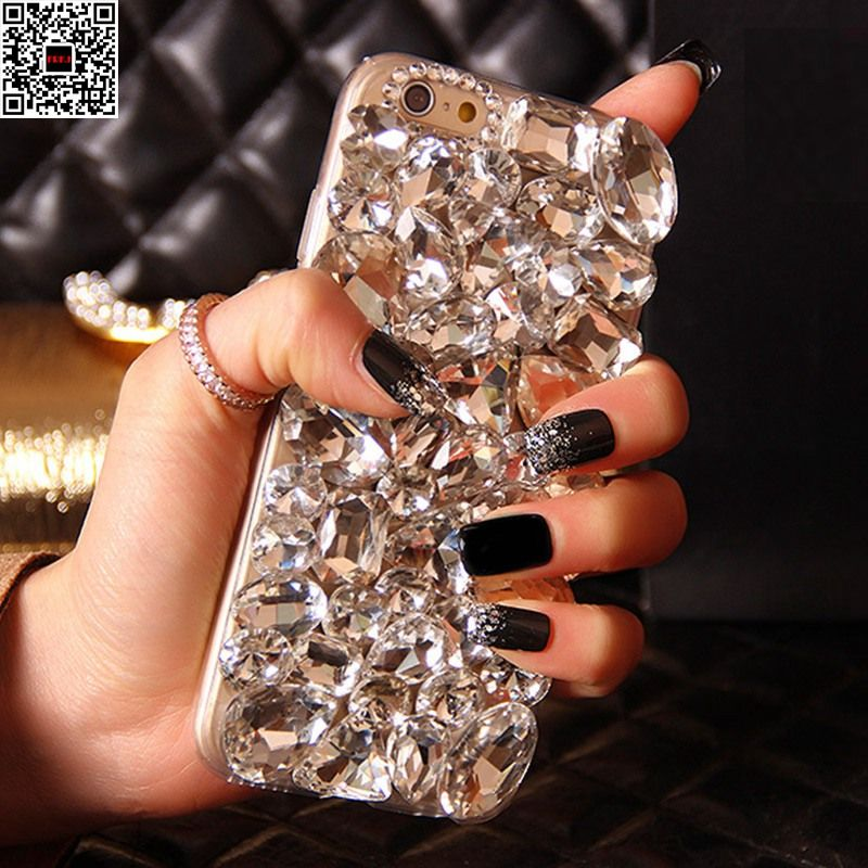Lady 3D Mirror Shiny Jewelled Handmade Crystal Diamond Case for Samsung Galaxy S9 S8 Plus S6 S7 Edge Note 8/4/5 J5/J7 2016 2017
