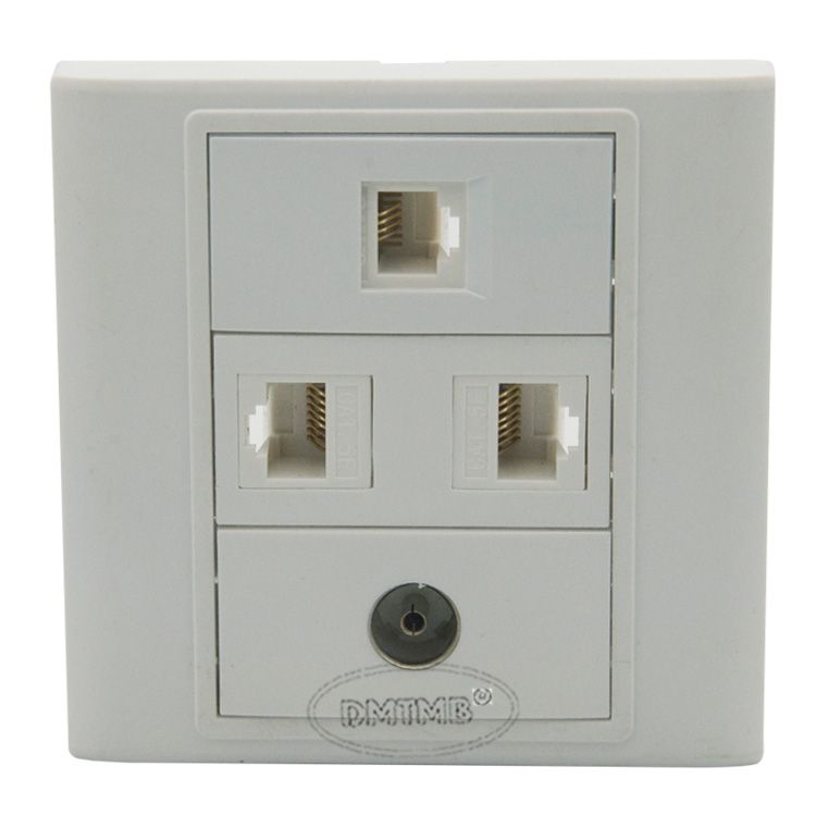 2 X RJ45, 1 X RJ1, 1 X TV Wall plate and support customer design