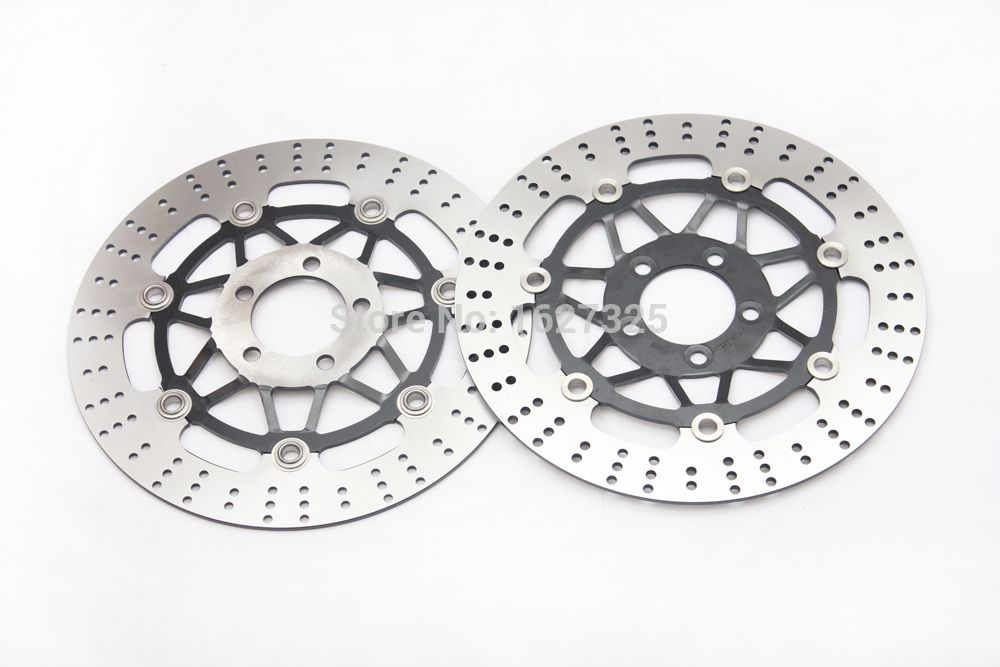 Motorcycle Front Brake Disc Rotors For ZR 250 A1-A5 91-95/ZR 250 B6 (Balius-II) 02/ZXR 250 A1/A2/B1/B2 89-90 Universel