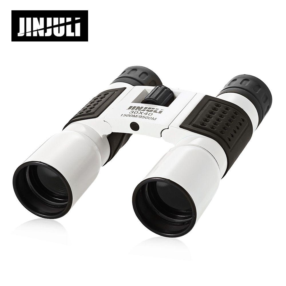 JINJULI 30X40 1500M / 9500M Folding Outdoor Binocular Fully-Coated Roof Prism Telescope Outdoor Hunting Binoculars Telescope