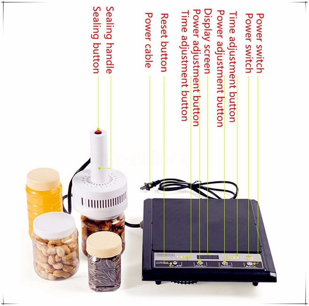 Free shipping Hand-held electromagnetic induction sealing machine Medical Plastic Bottle Cap Sealer Sealing Machine 20-100mm