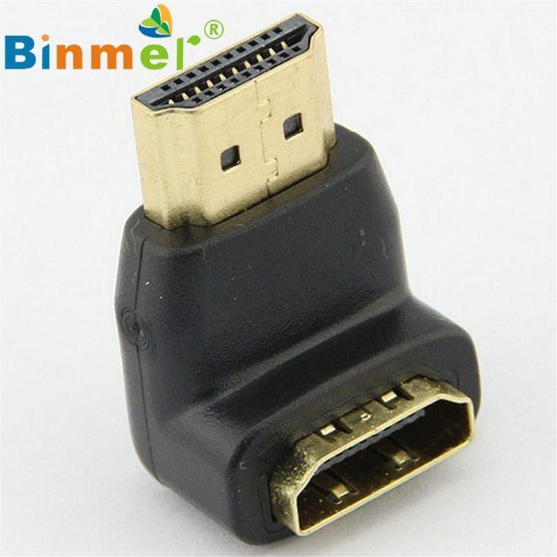 2017 neuer Connector für 1080 p LCD TV Mini Ellenbogen HDMI Stecker auf Buchse Adapter Schönes Geschenk Hot_KXL05