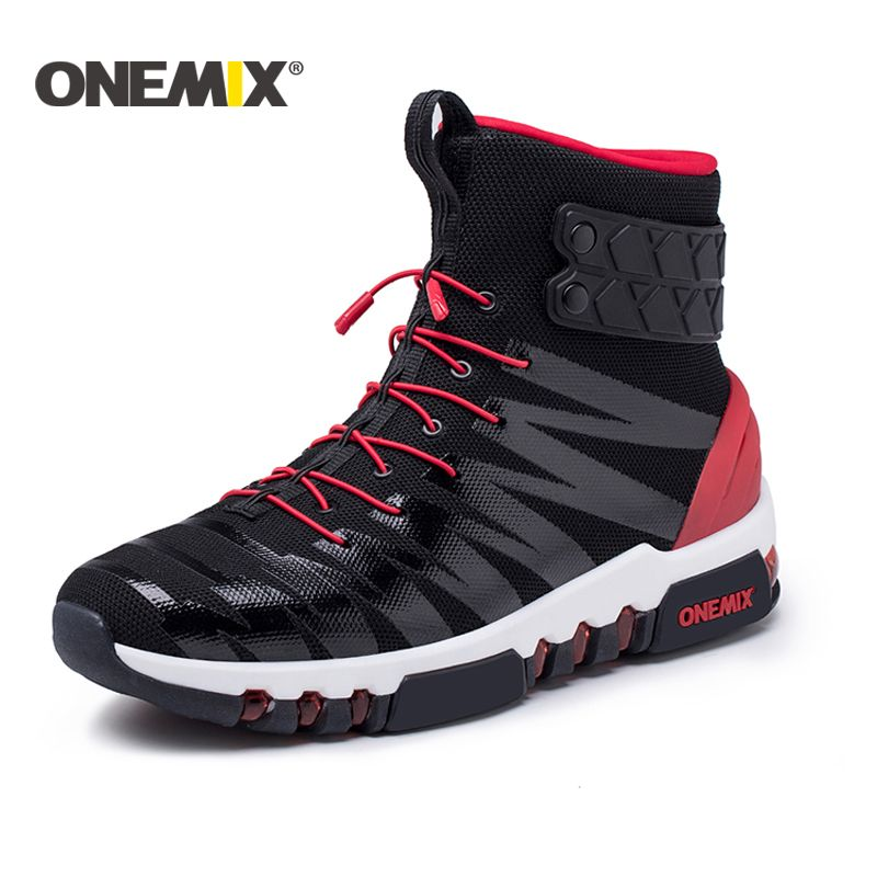 Onemix 2018 running boots for men or women high top sneakers Couple outdoor walking boots trekking sneaker for men Free shipping