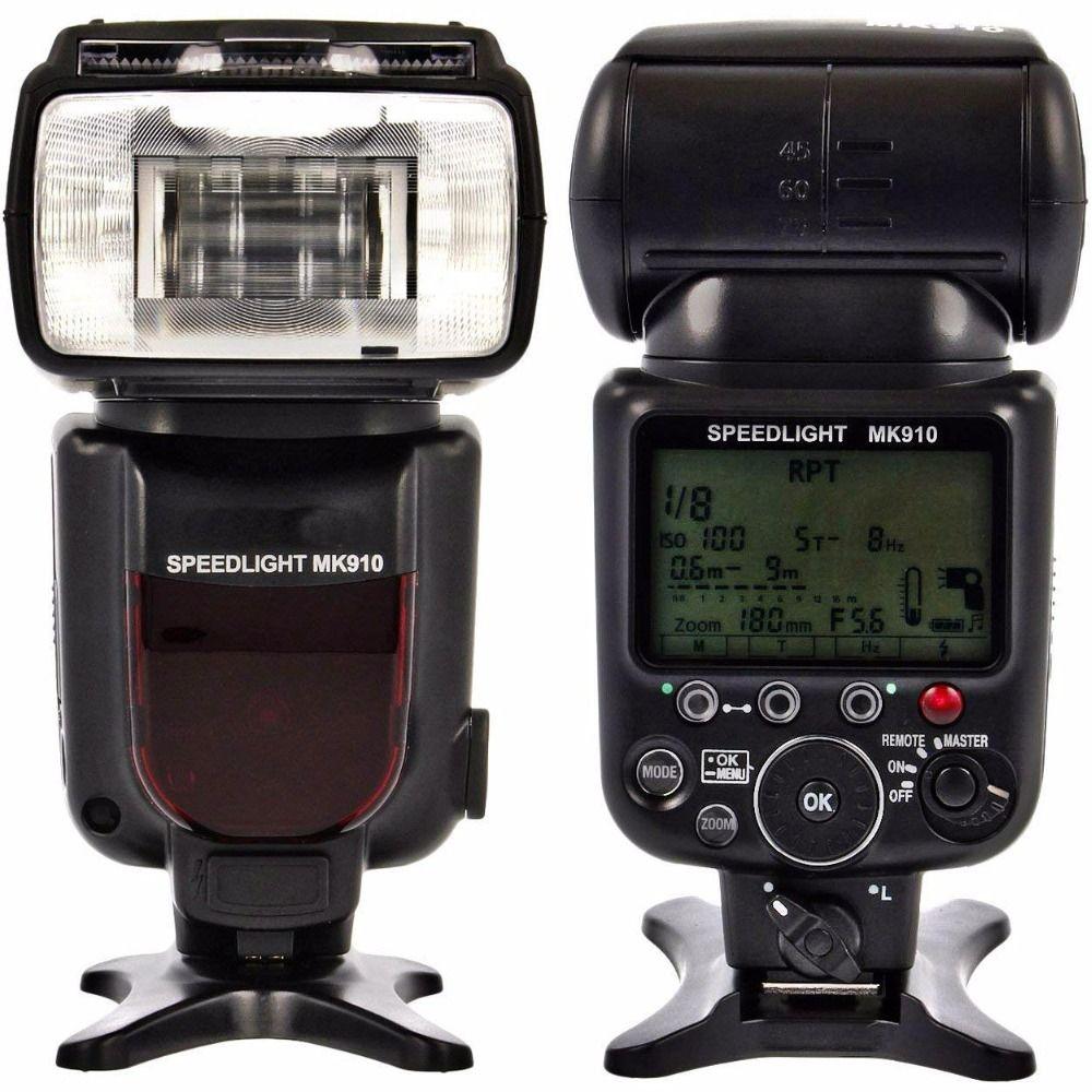 Meike MK910 1/8000s sync TTL lumière Flash Flash Speedlite pour Nikon D7100 D7000 D5300 D5100 D5000 D5200 D90 D70 + cadeau gratuit