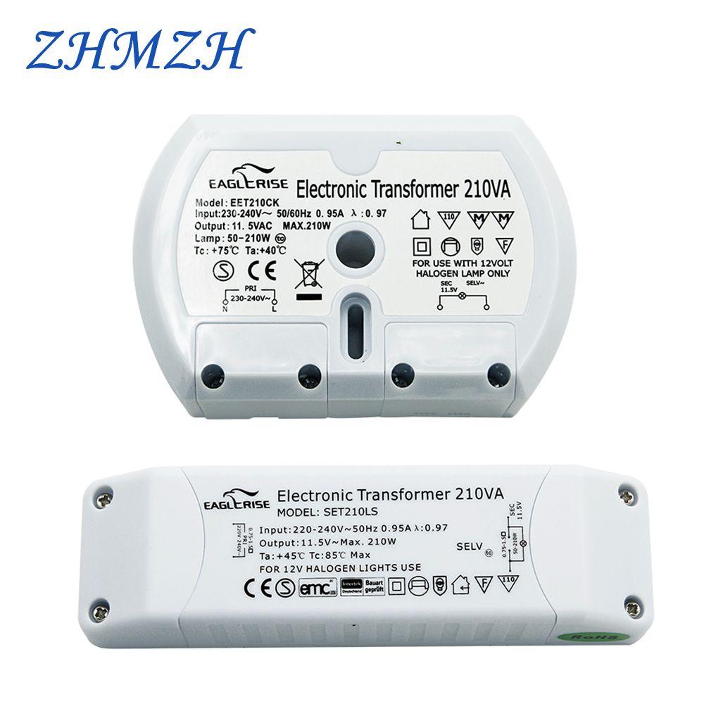 Puissance suffisante transformateur électronique CE Certification G4 lampe halogène 210 W contrôleur de Ballast AC 220 V à AC 12 V de haute qualité