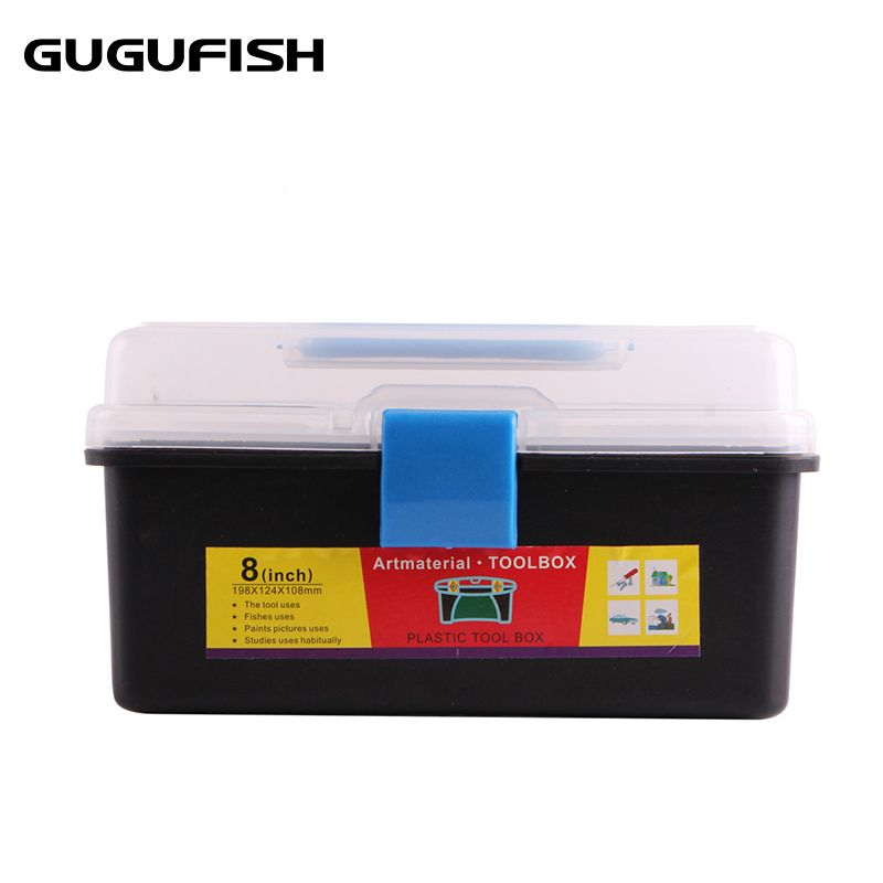 GUGUFISH Fishing tool box Double Sided High Strength Transparent Visible Plastic Fishing Lure Fishing lines Box