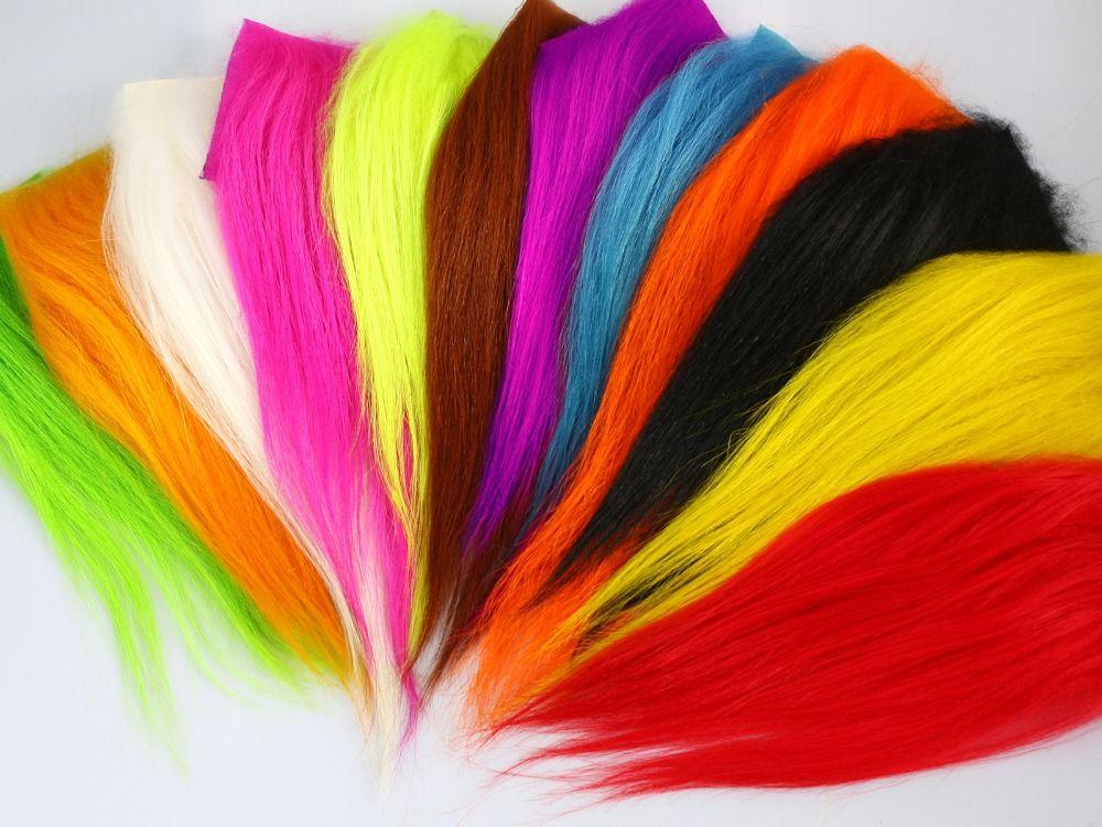 Montage de Mouches Matériel Cachemire De Chèvre Cheveux Pour Sunray Ombre Mouches Et Chien Tube Fly