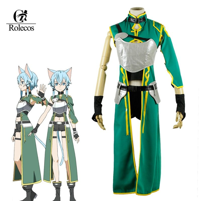 Rolecos Cosplay Costume Anime Sword Art Online Cosplay Sinon Costume