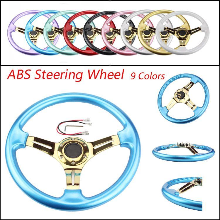 CNSPEED Gold New 350mm 14inch Steering Wheel ABS Steering Wheel