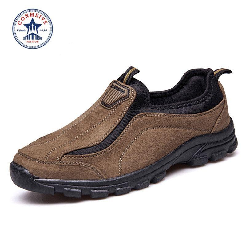 Специальное предложение Средний размер (б, м) треккинговые ботинки Slip-On кожаные открытый 2016 Trek замши спорта Для мужчин восхождение Outventure Муж...