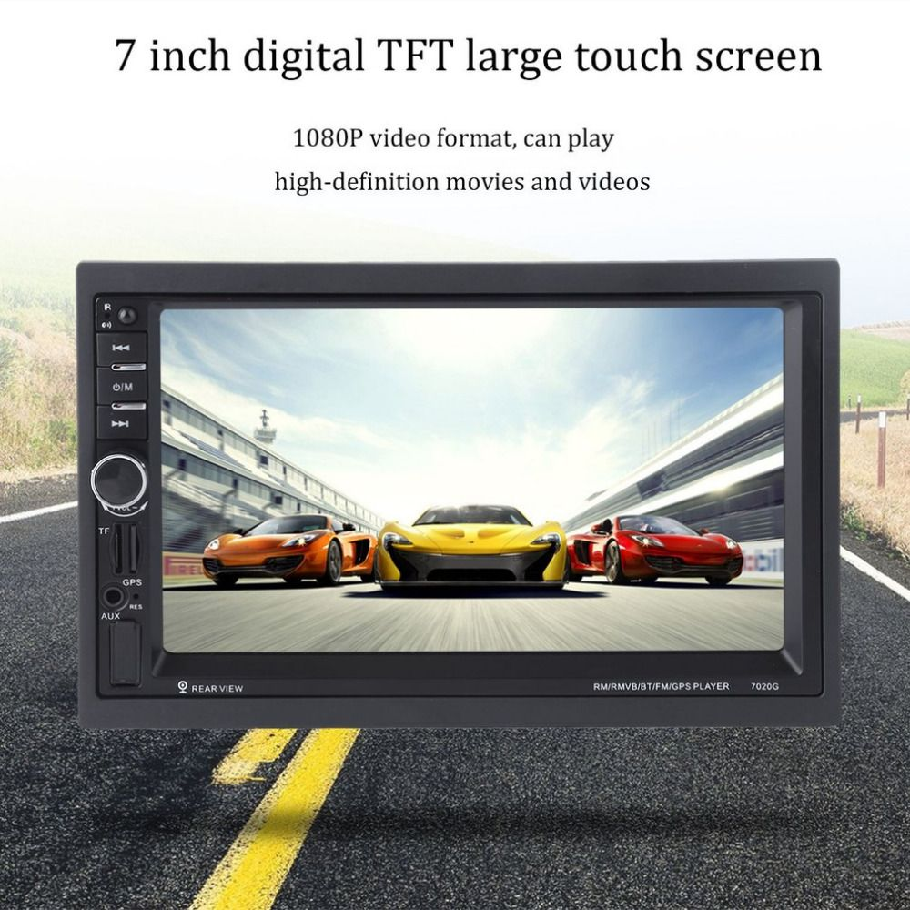 Multimidia 7 inch Touch Screen Car Bluetooth Audio Stereo MP5 Player with Rearview Camera GPS Navigation FM Function And Remote