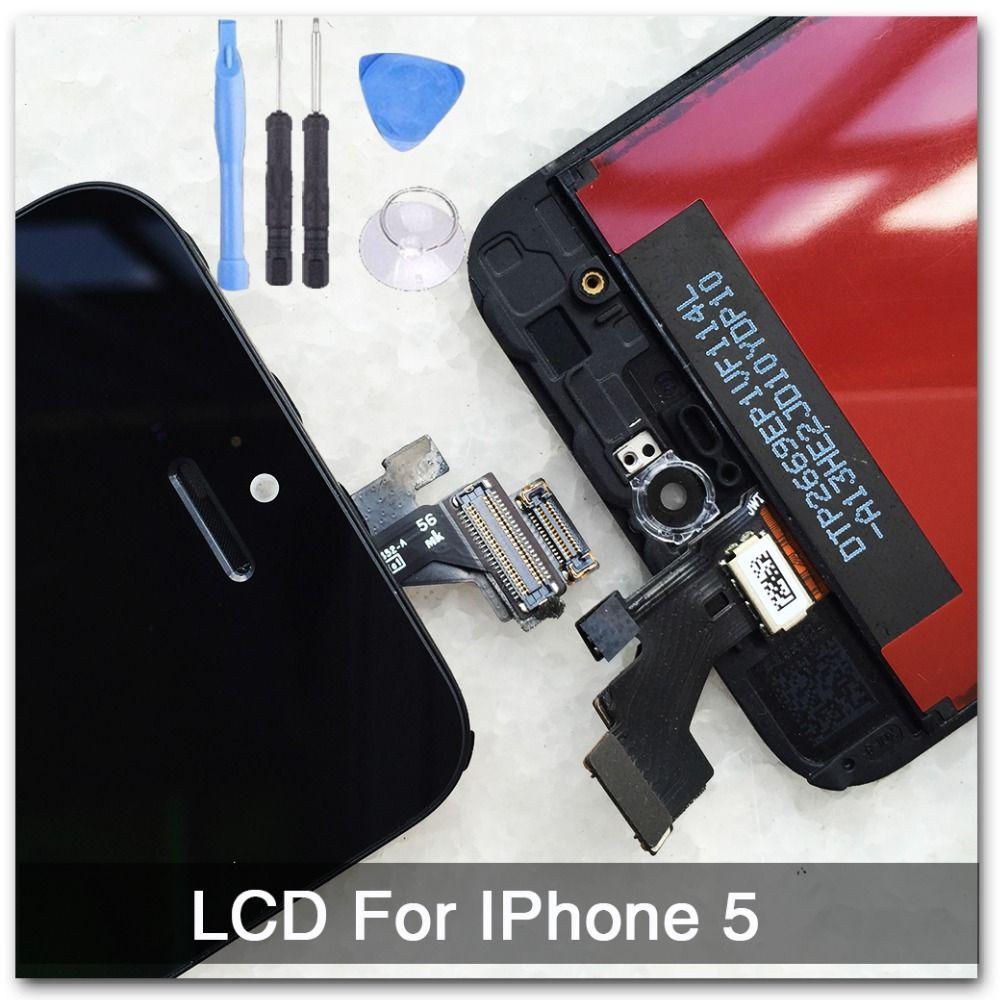 Черный 100% гарантия AAA Замена Дисплей для iPhone 5 iPhone 5C iPhone 5S ЖК-дисплей Сенсорный экран планшета полная сборка