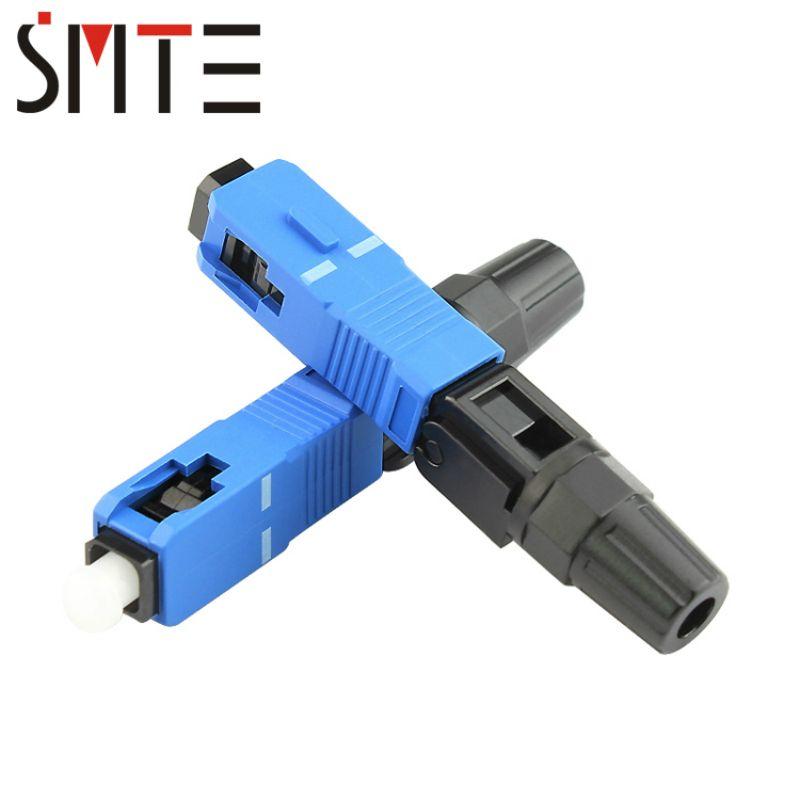 100pcs/lot SC UPC FTTH Fiber optic SC connector SC/UPC Optical fiber connector SC-UPC fast connector