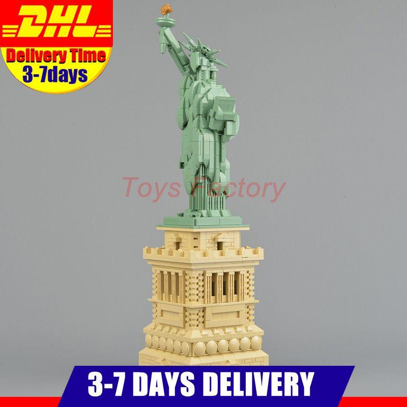 Clone 21042 Lepin 17011 Architecture Series 1877 PCS Statue of Liberty Set Toys Model Building Blocks Bricks Kits DIY Gifts