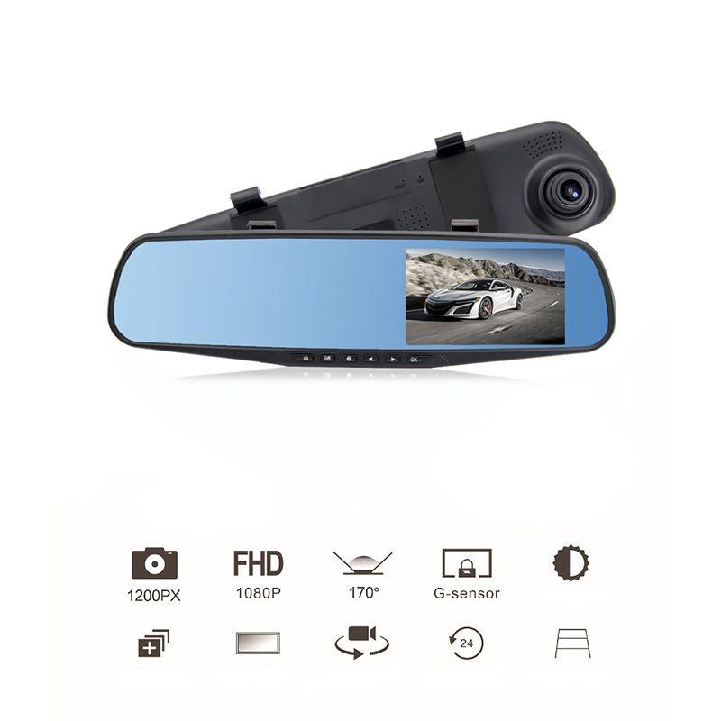 4.3 Inch Car Rearview Mirror Video Monitor Digital Camera BIG Screen Built-In Speaker Cycle Recording HD CCD Lens Car DVR