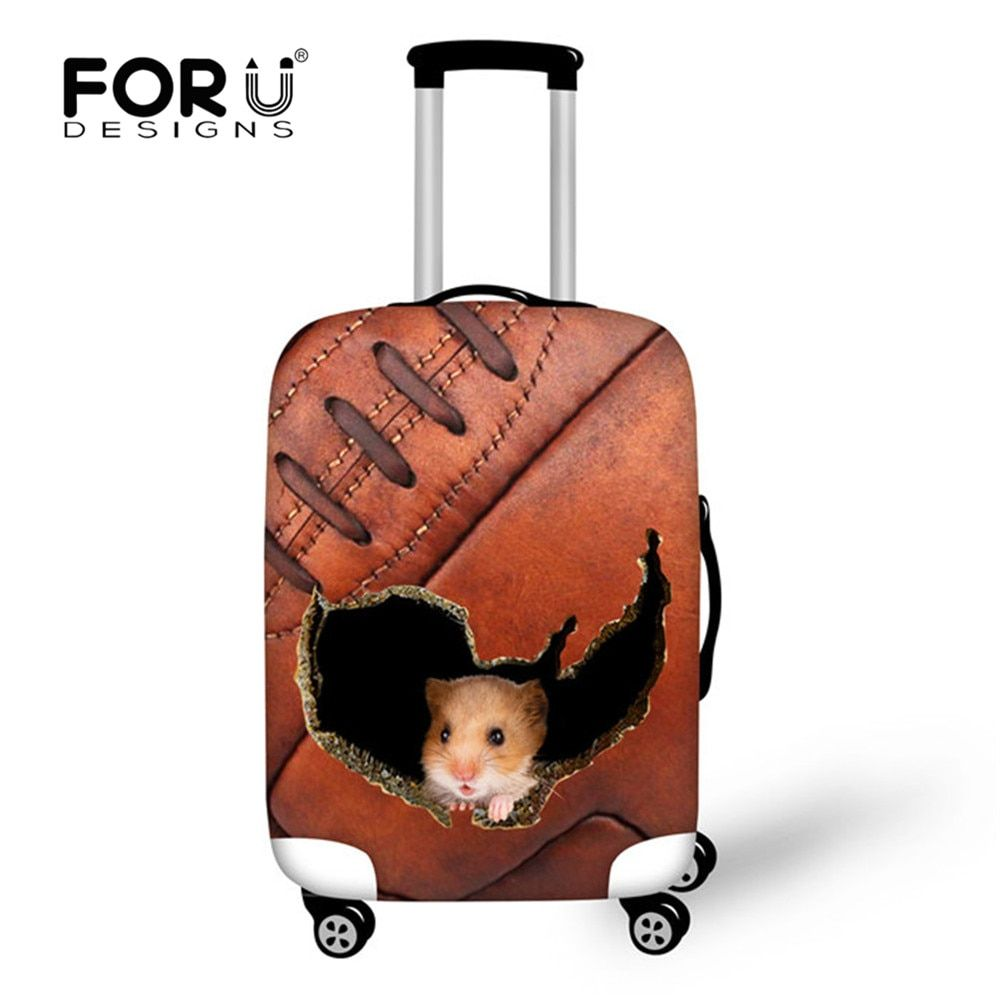 FORUDESIGNS Cas Couverture Épais Élastique Bagages couvercle de protection Zipper convient à 18-30 pouces Tronc Cas valise de voyage Couvre Sacs