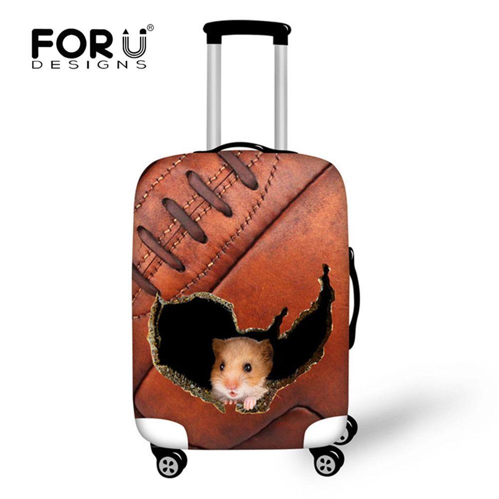FORUDESIGNS housse de protection épaisse élastique pour bagages housse de protection à glissière pour 18-30 pouces malle valise de voyage couvre sacs
