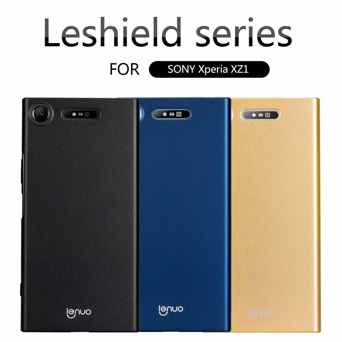 Caso Para Sony Xperia XZ1 Lenuo Leshield Serie de Lujo PC Dura de la sFor Sony Xperia Caso XZ1