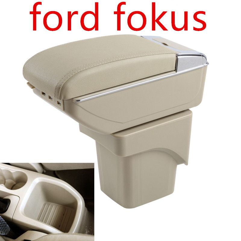 Large Armrest For Ford Focus 2 MK2 2005-2011 Arm Rest Centre Center Console Storage Box Leather Support 2006 2007 2008 2009 2010