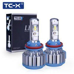 Светодиодные лампы TC-X T1 с цоколем H7 H8 H11 H1 HB3 9005 HB4 9006 H3880 H27 H4 для ближнего дальнего света и для противотуманных фар