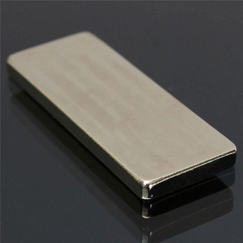 2 stücke 50x20x4mm Quadratischen Block N50 NdFeB Starke quader Magnet Rare Earth Neodym Permanentmagnet Schwer zu auseinander weg
