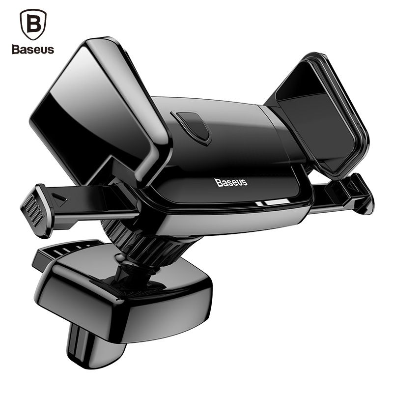 Baseus Universal Car Holder For iPhone 8 7 6 Samsung S8 360 Degree Soporte Movil Air Vent Mount Car Mobile Phone Holder Stand