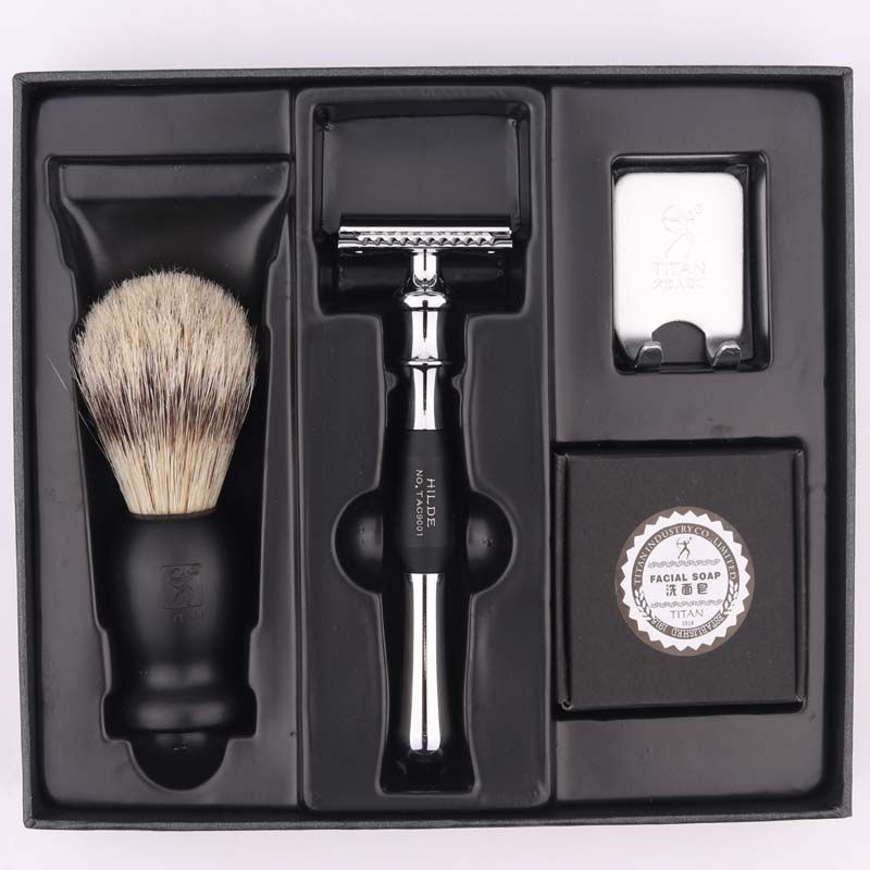 Titan rasoir double edge safety razor set avec brosse savon livraison gratuite rasoir ensemble