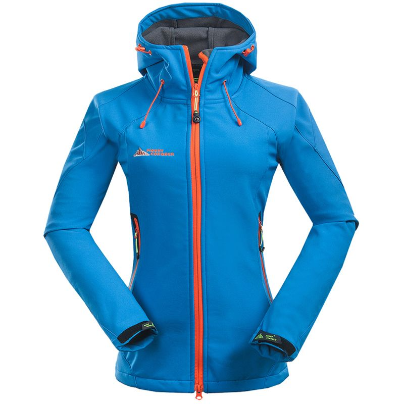 2017 Women Softshell Hiking Jackets Outdoor Camping Escalada Coats Thermal Waterproof Windproof Spring Female Jackets RW001