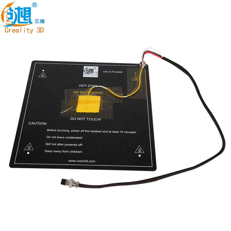 Shipping DHL/Fedex Creality 3D Heated bed plate for CREALITY 3D CR-10/CR-10S/S4 Size 300/400 Cable Installed Well
