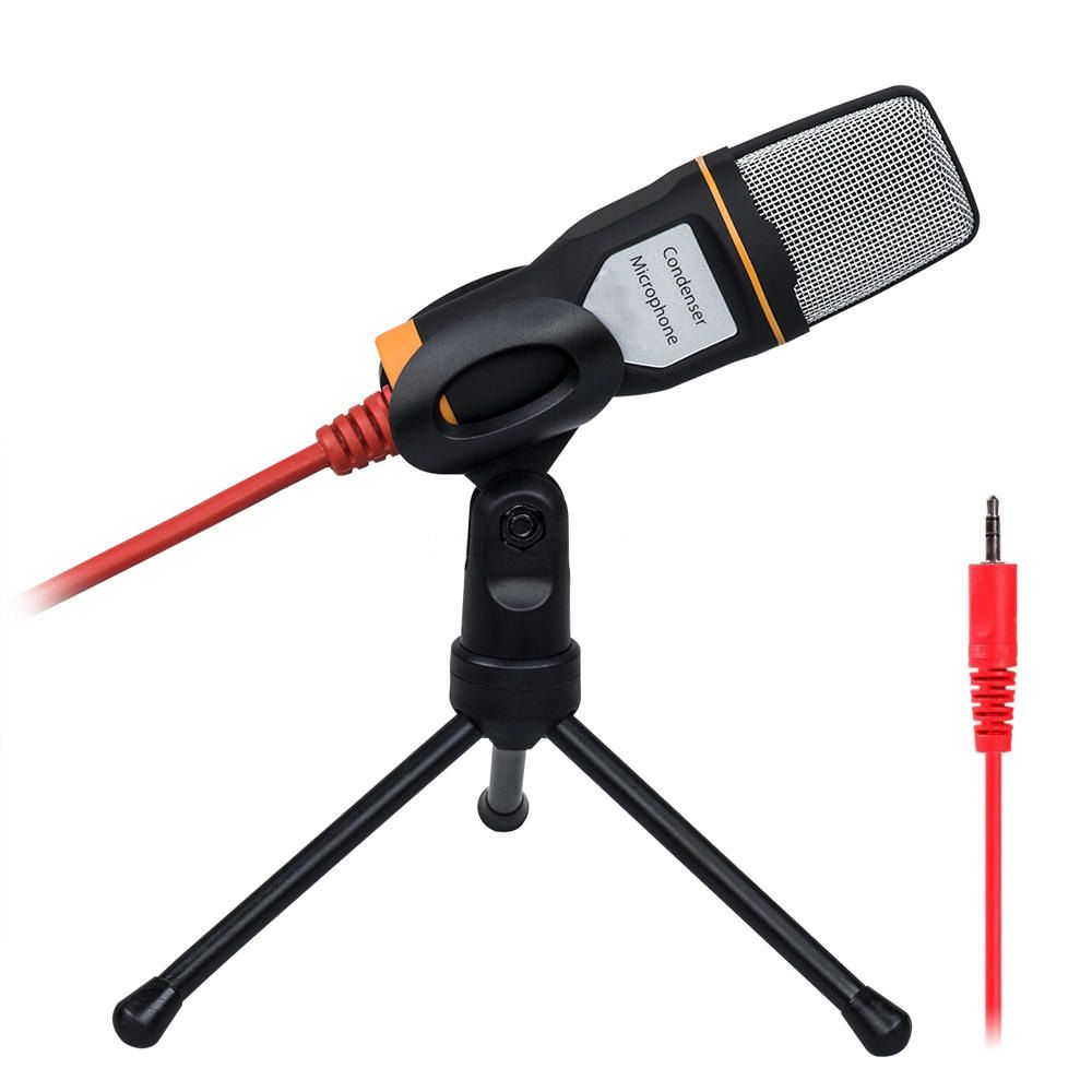 Hot-sale Black High Quality Handheld Microphone Sound Studio Microphone Mic For Computer Chat PC Laptop Skype MSN Gifts