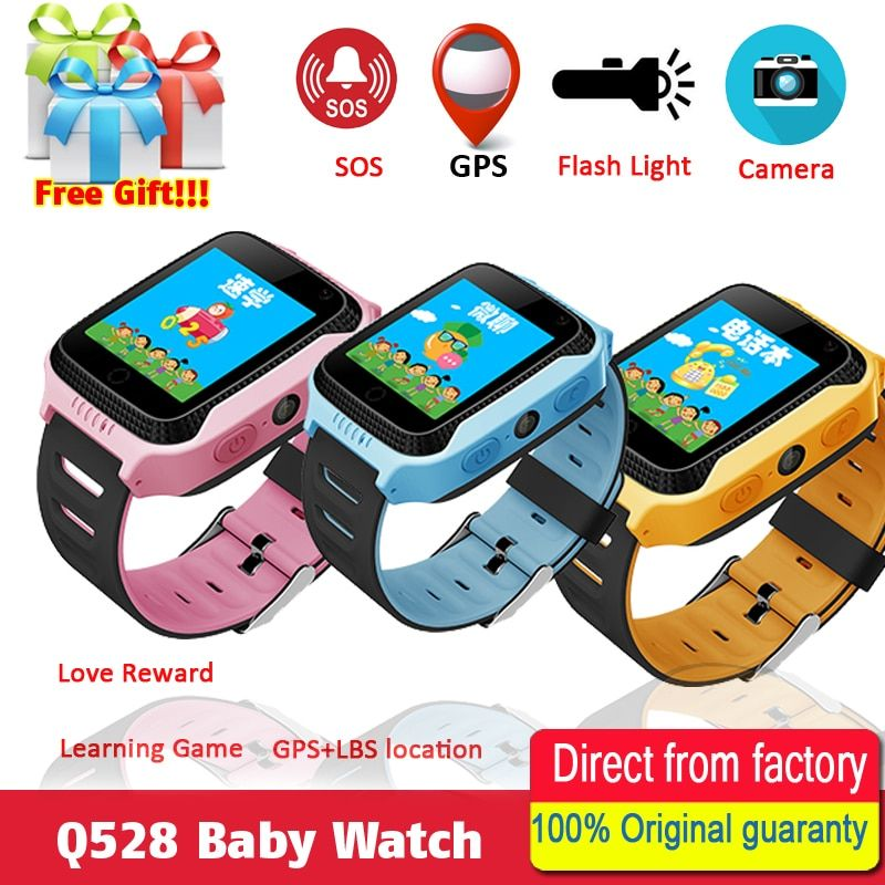 Q528 Y21 Touch Screen Kids GPS Watch with Camera Lighting Smart Watch Sleep Monitor GPS SOS Baby Watch PK Q750 Q90
