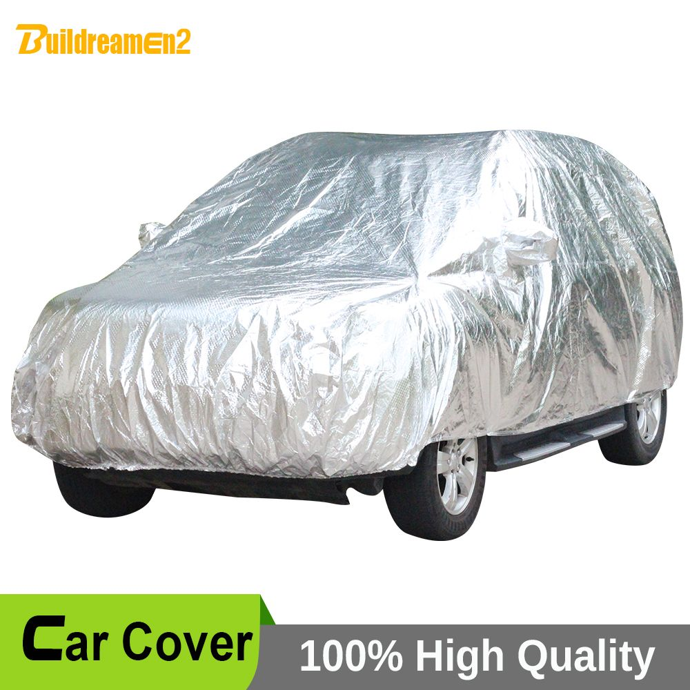 Buildreamen2 Waterproof Full Car Cover Indoor Outdoor Sun UV Snow Rain Hail Dust Resistant Paint Protection Thicken Car Covers
