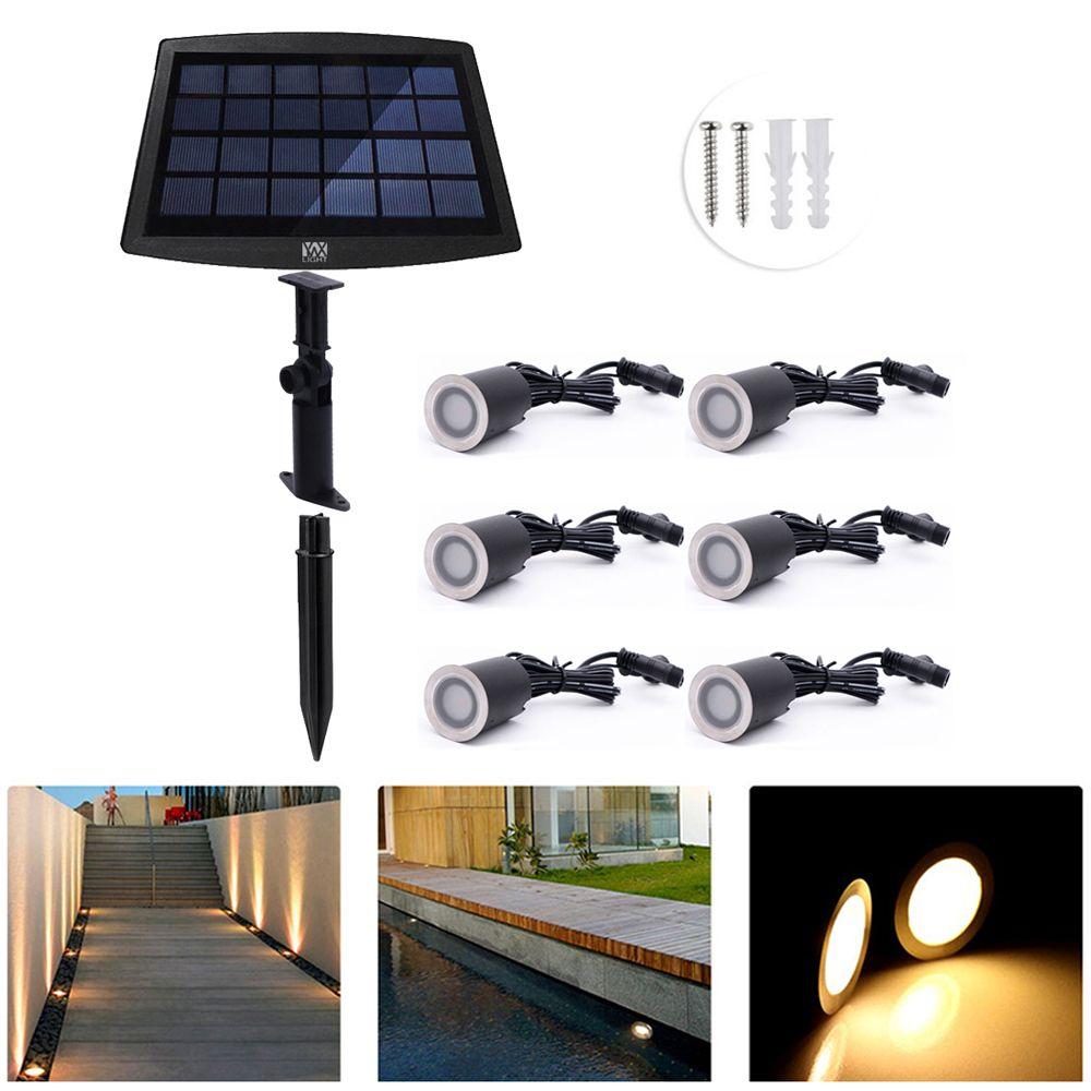 YWXLight 6 PCS Solar Deck Lights IP67 Waterproof Solar Garden Light Sensing Garden Paths Underground Lamp LED Floor Light