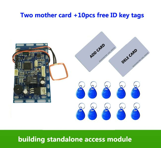 RFID EM/ID Embedded Door Access Control ,intercom access control, lift control ,with 2pcs mother card, 10pcs em key fob,min:1pcs