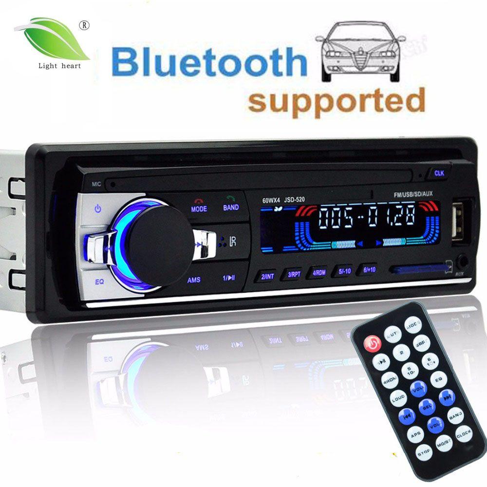 autoradio 12V Car <font><b>Radio</b></font> Bluetooth 1 din car stereo Player Phone AUX-IN MP3 FM/USB/<font><b>radio</b></font> remote control For phone Car Audio