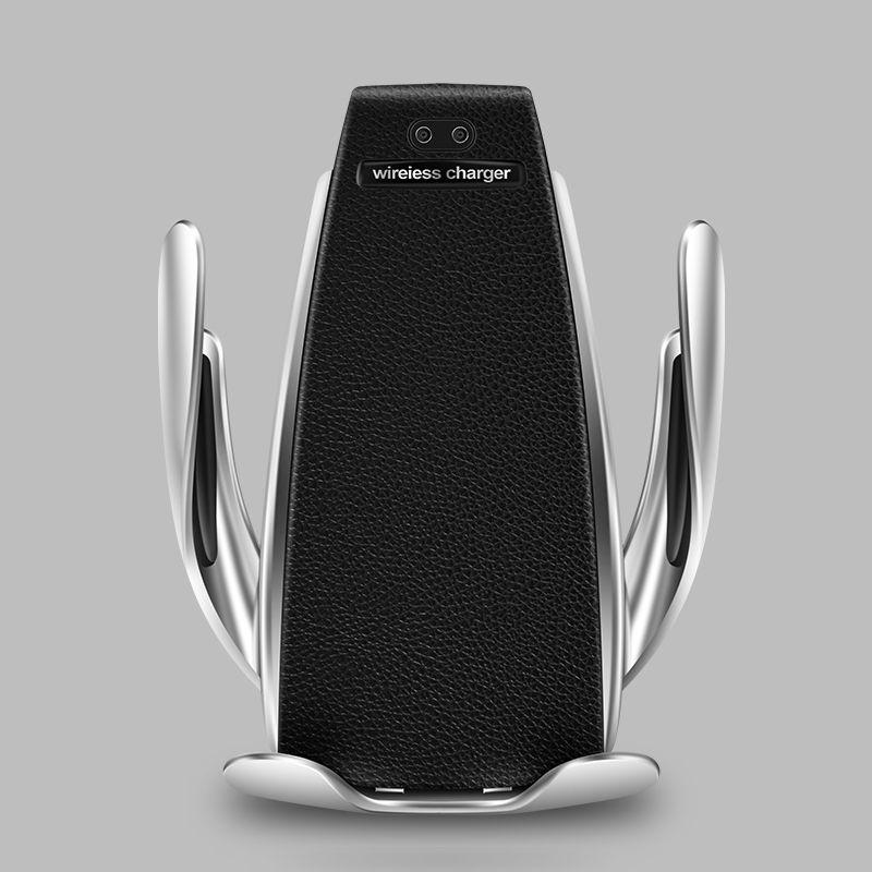 Chargeur de voiture sans fil pour iPhone Samsung Huawei pince automatique intelligente 10 W Qi charge rapide support de chargeur de voiture sans fil support de chargeur de téléphone 10 W