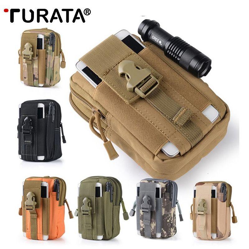 TURATA extérieur étui tactique militaire Molle hanche taille ceinture sac portefeuille pochette sac à main fermeture éclair étui de téléphone pour xiaomi Redmi Note 4