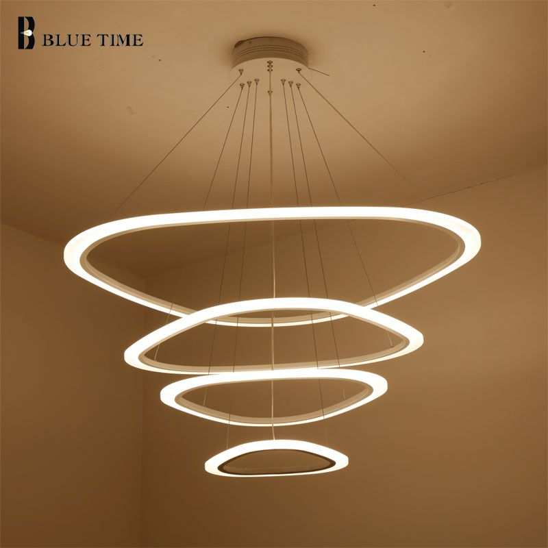 Triangle Shape Chandeliers For Home Illumination AC85-265V Dinning Room Living Room Indoor Lights Acrylic Pendants Chandelier